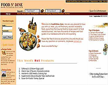 Food and dining service web portal - Andy Teo, web graphic designer